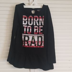 Born to be Rad Girls 7/8 Longsleeve Shirt